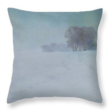 The Last Snow Throw Pillow by Lynn Bywaters
