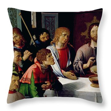 The Last Supper Throw Pillow by French School
