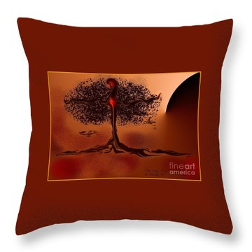 The Last Tree Throw Pillow