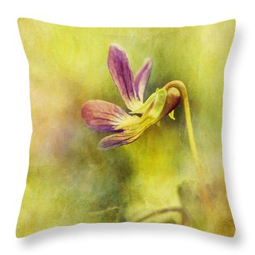 The Last Violet Throw Pillow by Lois Bryan