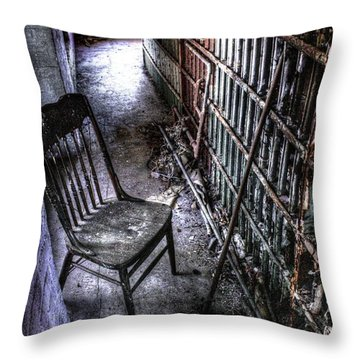 The Last Visitor Throw Pillow