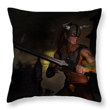 The Last Warrior Throw Pillow