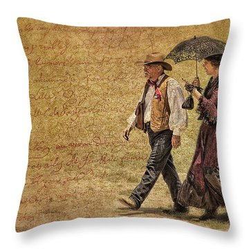 The Last Word Throw Pillow by Priscilla Burgers