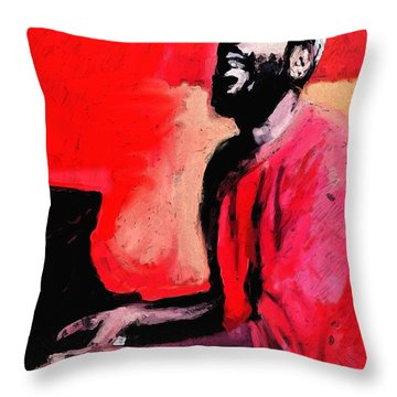 The Late Great Marvin Gaye Throw Pillow by Vannetta Ferguson