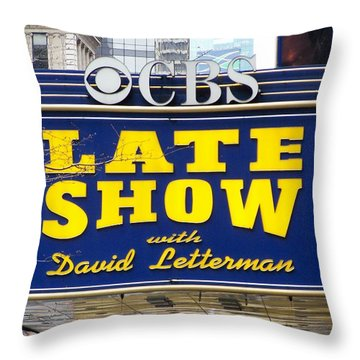 The Late Show With David Letterman Throw Pillow by Kenneth Summers
