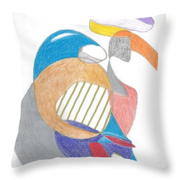 The Lavendar Hat Throw Pillow
