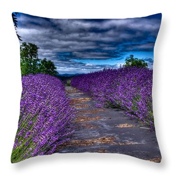 The Lavender Field Throw Pillow