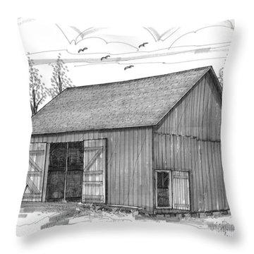 The Lawrence Barn Throw Pillow