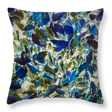 The Leaves Of Fall Throw Pillow by William Wyckoff