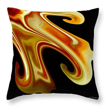 Throw Pillow featuring the digital art The Left Corner by rd Erickson