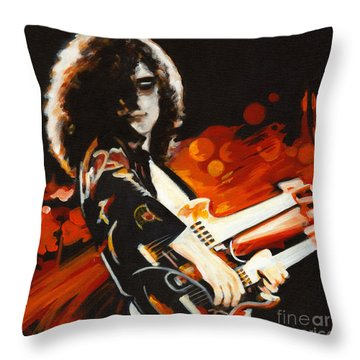Stairway To Heaven. Jimmy Page  Throw Pillow