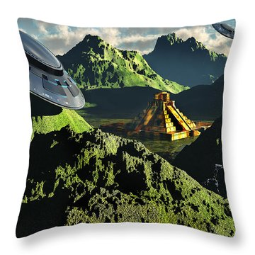 The Legendary South American Golden Throw Pillow by Mark Stevenson