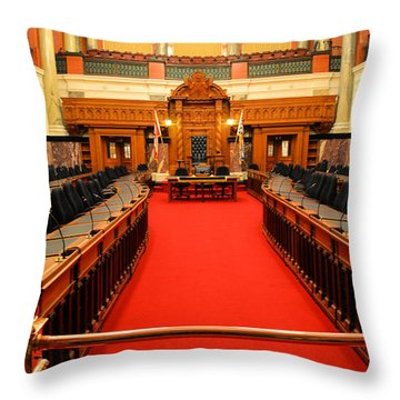 The Legislature Victoria Bc Throw Pillow