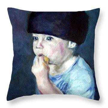 The Lemon Eater Throw Pillow
