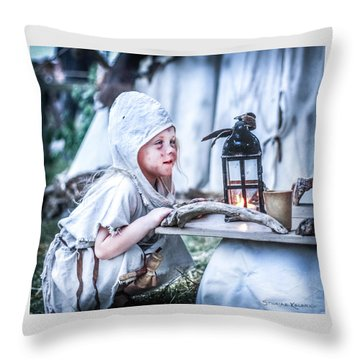 Throw Pillow featuring the photograph The Leprosy Child And The Healing Lantern by Stwayne Keubrick