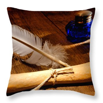 The Letter Throw Pillow by Olivier Le Queinec