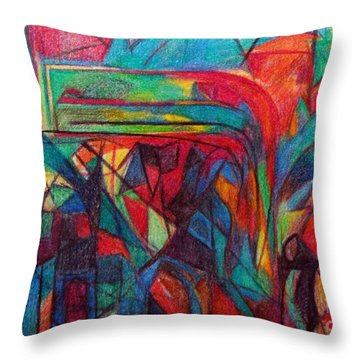 The Letter Raish Throw Pillow by David Baruch Wolk
