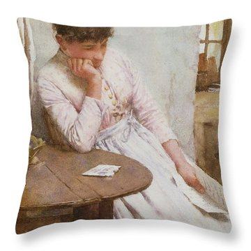 The Letter  Throw Pillow by Walter Langley