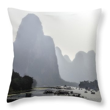 The Li River China Throw Pillow