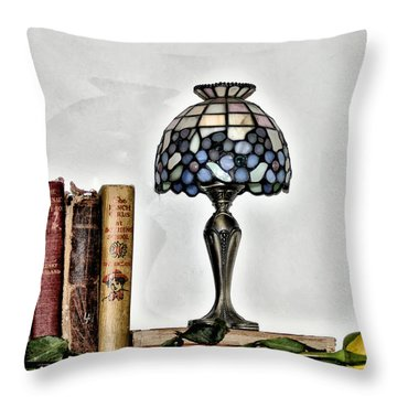 The Library Throw Pillow by Bill Cannon