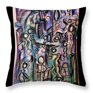 The Life Of People Throw Pillow by Mimulux patricia no No
