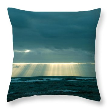 The Light Above Kapoho Throw Pillow