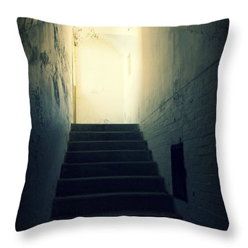 The Light At The Top Of The Stairs Throw Pillow