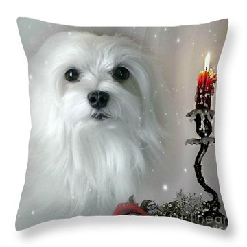 The Light In My Life Throw Pillow by Morag Bates
