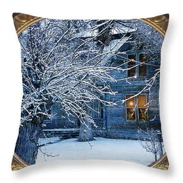 Throw Pillow featuring the photograph The Light In The Window by Gunter Nezhoda