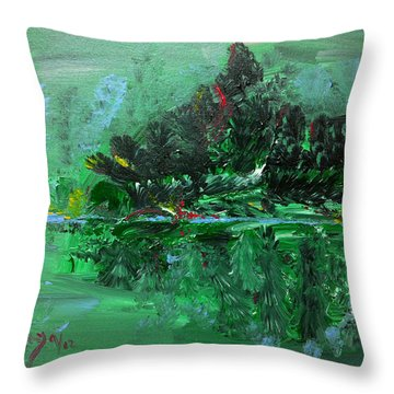 The Light Of The Silvery Moon Throw Pillow by Donna Blackhall