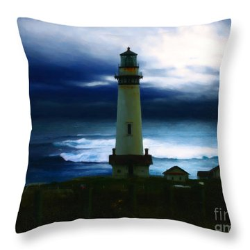The Lighthouse Throw Pillow by Cinema Photography
