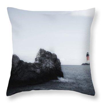 The Lighthouse Throw Pillow by Joana Kruse