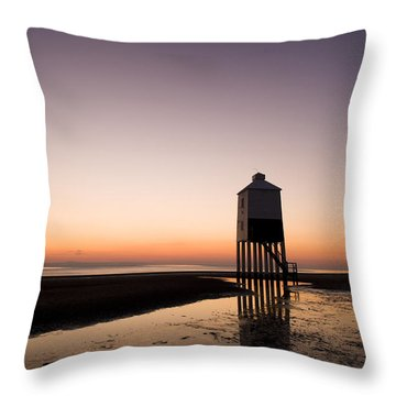 The Lighthouse On Legs Throw Pillow by Anne Gilbert