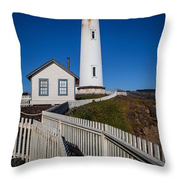 the Lighthouse Throw Pillow by Steven Reed