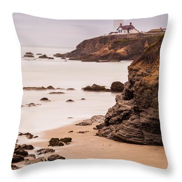 The Lighthouse Throw Pillow by Tassanee Angiolillo