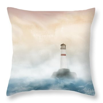 The Lighthouse Throw Pillow by Thomas OGrady