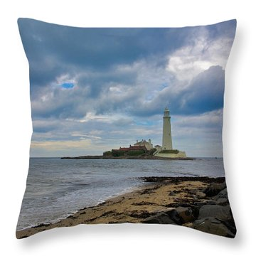 The Lighthouse Throw Pillow by Trevor Kersley