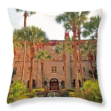 The Lightner Museum Throw Pillow by Marion Johnson