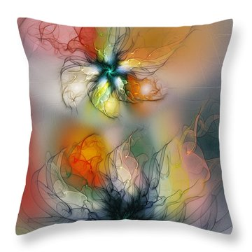 The Lightness Of Being-abstract Art Throw Pillow