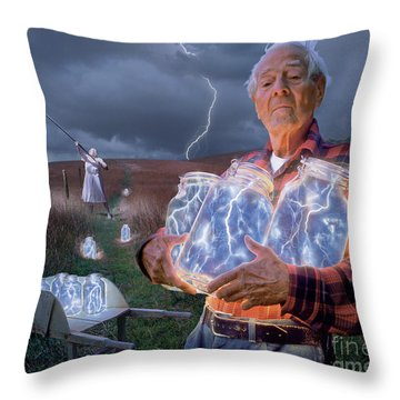 Lightning Throw Pillows