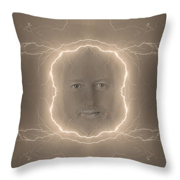 The Lightning Man Sepia Throw Pillow by James BO  Insogna