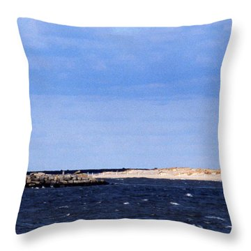 The Lights Of Lewes Throw Pillow by Skip Willits