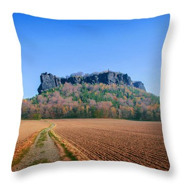 The Lilienstein On An Autumn Morning Throw Pillow