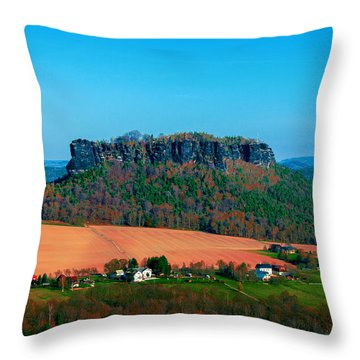 The Lilienstein Throw Pillow