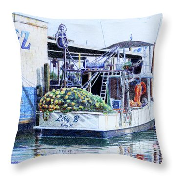 Throw Pillow featuring the painting The Lily B by Roger Rockefeller