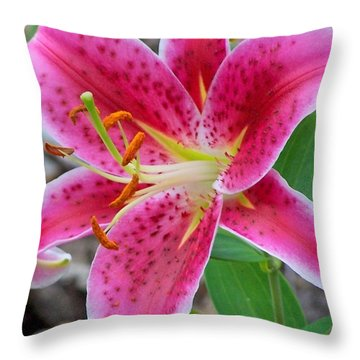 The Lily Is A Lady Throw Pillow
