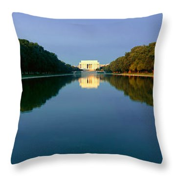 The Lincoln Memorial At Sunrise Throw Pillow by Panoramic Images