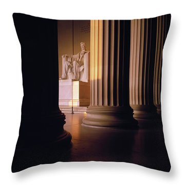 The Lincoln Memorial In The Morning Throw Pillow by Panoramic Images
