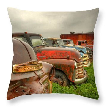The Line Up 1 Throw Pillow by Thomas Young