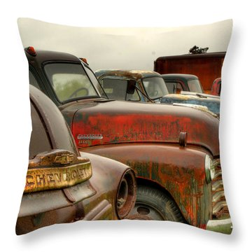 The Line Up 2 Throw Pillow by Thomas Young